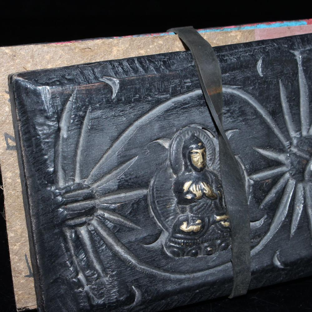 Tibetan Wooden Board And Old Pure Manual Scripture
