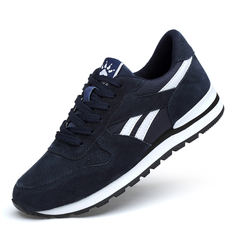 Breathable Running Shoes for Men Outdoor Sport Running Shoes Women Genuine Leather Sneakers Light Casual Anti-skid Walking Shoes 1