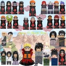 Wm bloco anime narutoshippuden sasuke dor rikudo akatsuki anime figura cabeça tijolos presente blocos de construção crianças brinquedos para crianças