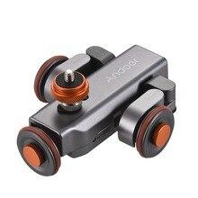 Andoer l4 pro câmera de vídeo motorizada dolly trilha elétrica controle remoto sem fio mini slider skater para câmera