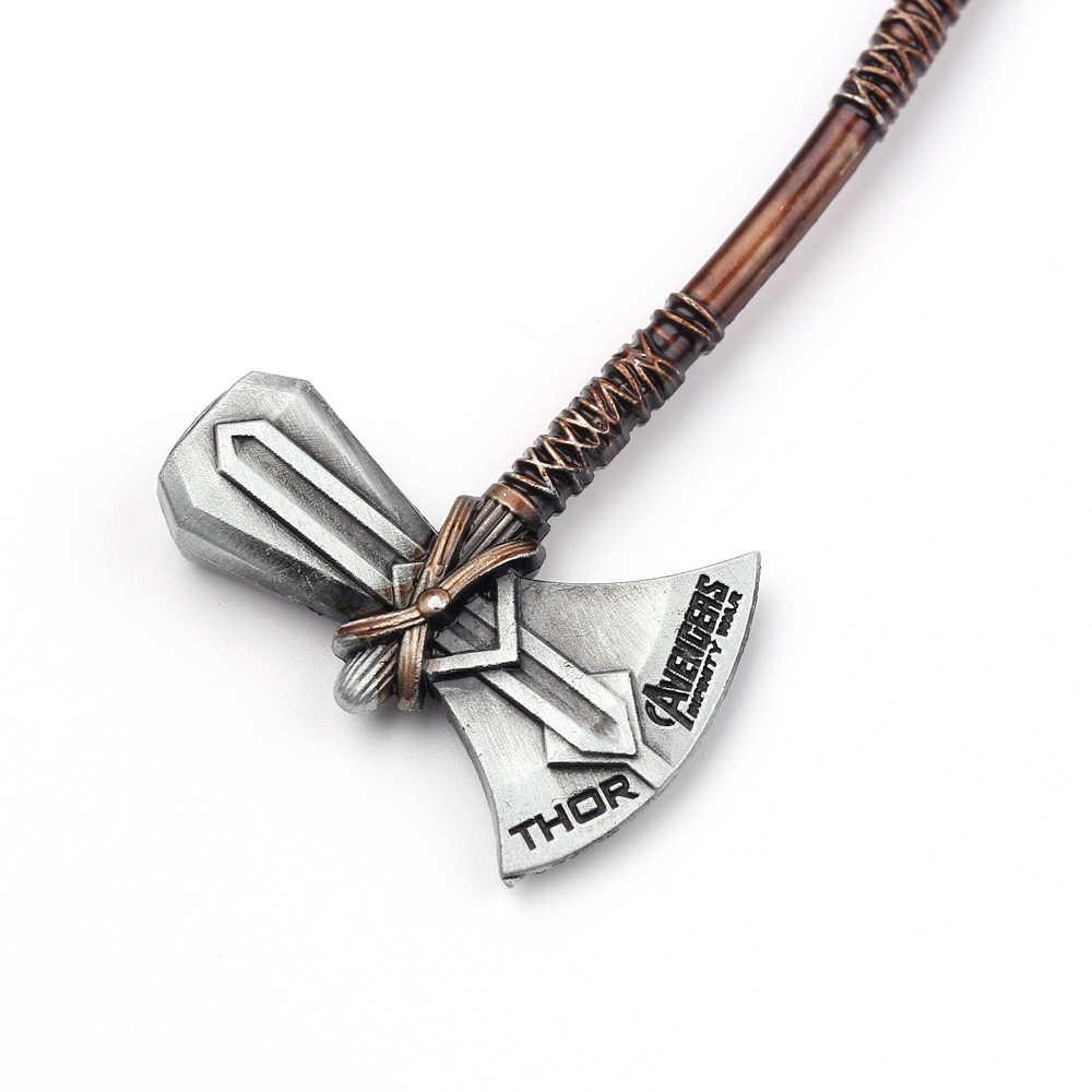 Marv Avengers 4 Endgame Thor Stormbreaker anahtarlık Cosplay aksesuarları Metal anahtarlık anahtarlık Thor silah fırtına ax