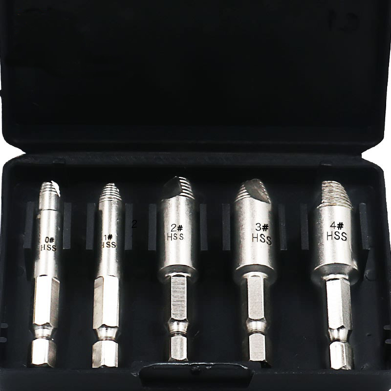 Damaged Screw Extractor Drill Bits Remove Broken Stuck Screw Easy Speedout Stripped Remove Power Tools Set 0# 1# 2# 3# 4#