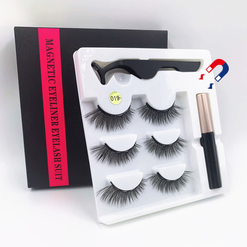 <font><b>Magnetic</b></font> <font><b>Eyelash</b></font> <font><b>Set</b></font> 3 pairs 5 Magnet Reusable False <font><b>Eyelashes</b></font> Naturally Soft <font><b>Eyelash</b></font> Extensions, <font><b>Magnetic</b></font> <font><b>Eyeliner</b></font> <font><b>Set</b></font> image