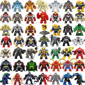 Marvel Avengers Hulk Thanos Iron Man Batman Venom Wolverine Super Heroes Building Blocks figure set giocattoli per bambini regali(China)