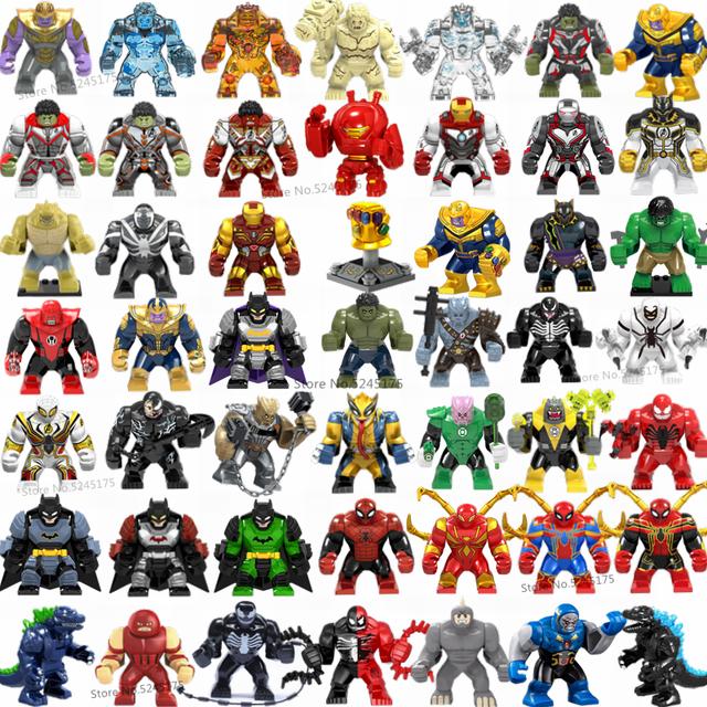 Marvel Avengers Hulk Thanos Iron Man Batman Venom Wolverine superbohaterowie klocki figurki zestawy zabawki dla dzieci prezenty