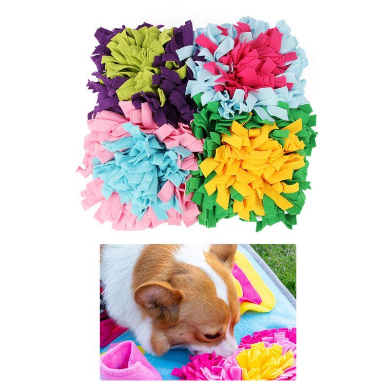 Tapis de reniflement pour chien de compagnie tapis de reniflement de formation de nez couverture de bol de nourriture d