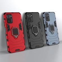 Чехол для Xiaomi Redmi Note 10, Жесткий Чехол-бампер с кольцом на палец для Xiaomi Redmi Note 10 Pro, чехол для Redmi Note 9T, Redmi 9T