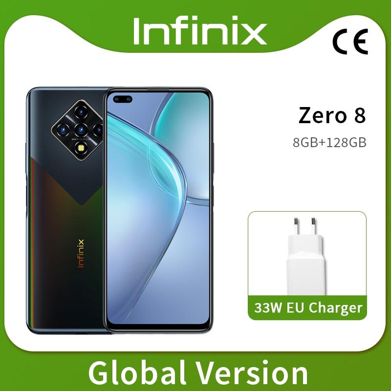 Новая глобальная версия Infinix ноль 8 8GB 128GB смартфон 6,85 ''fhd 90 Гц Full Экран 64-мегапиксельная четырехъядерная камера 4500 мА/ч, Батарея 33 Вт Зарядное ...
