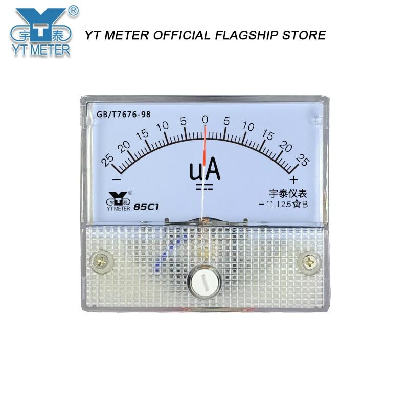 85c1 positive and negative ammeter DC milliammeter microammeter ± 25ua 50ua 100ua 200mA 300mA 5A 10A bidirectional ammeter