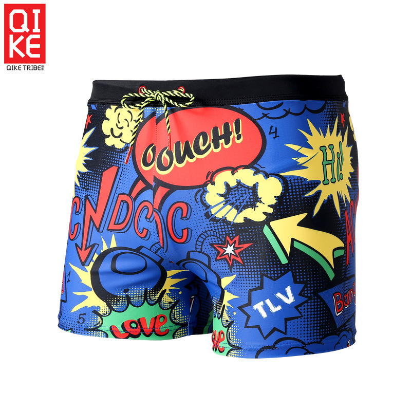 Men Quick-Dry Hot Springs Swimming Trunks Large Size Shorts Anti-Awkward Bathing Suit Elasticity Adult Swimming Trunks-Sewer Equ