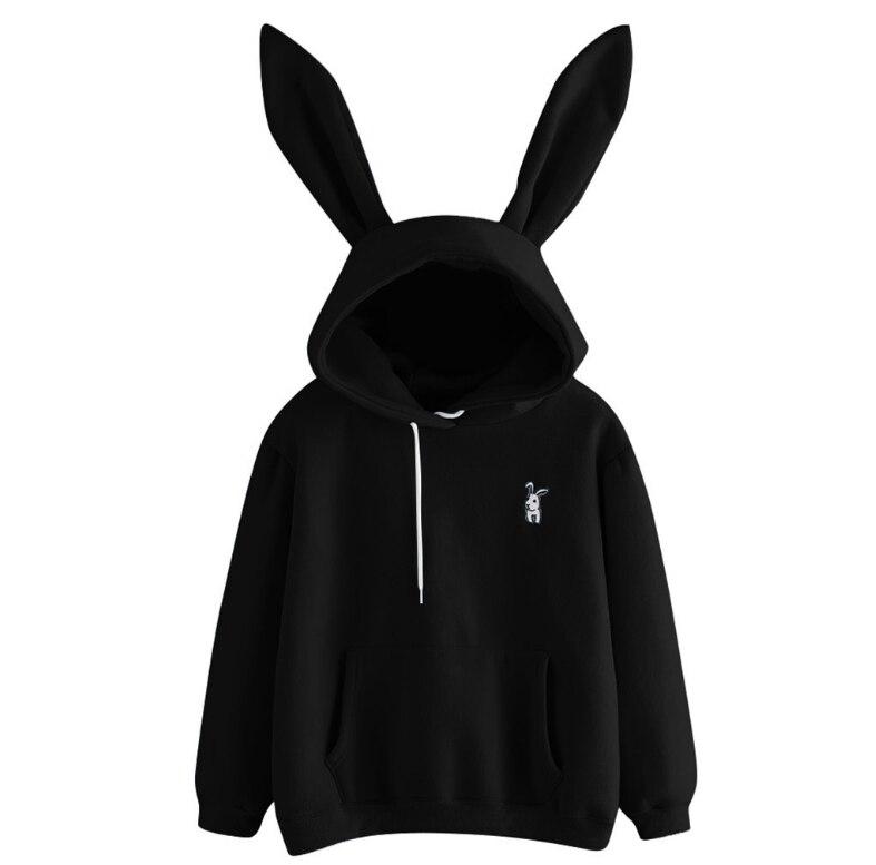 Women's 2019 Hot Sale Cute Bunny Girl Hoodie Casual cute longsleeve Sweatshirt Pullover with Ears S-XL ladies top Sweatershirt