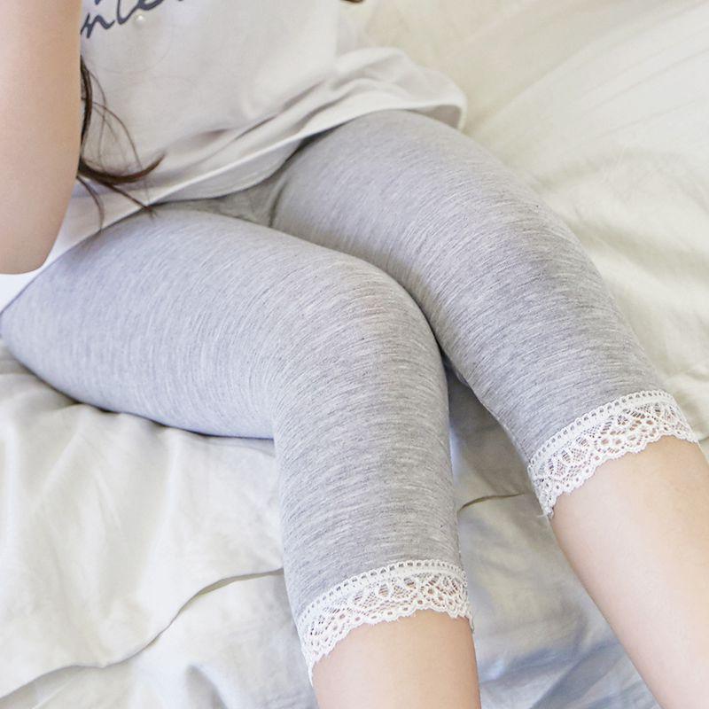 Summer Leggings Girl Skirt Legging Baby Girl Clothes Soft Thin Legging Kids Trouser Lace Girls Bud Silk Pants Child Girl Legging