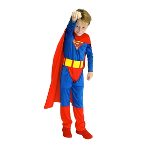 Image 3 - 子供キッズ男の子スーパーヒーロースーパーマンスーパーマン衣装コスプレハロウィンpurimパーティーカーニバルドレスアップB 0023