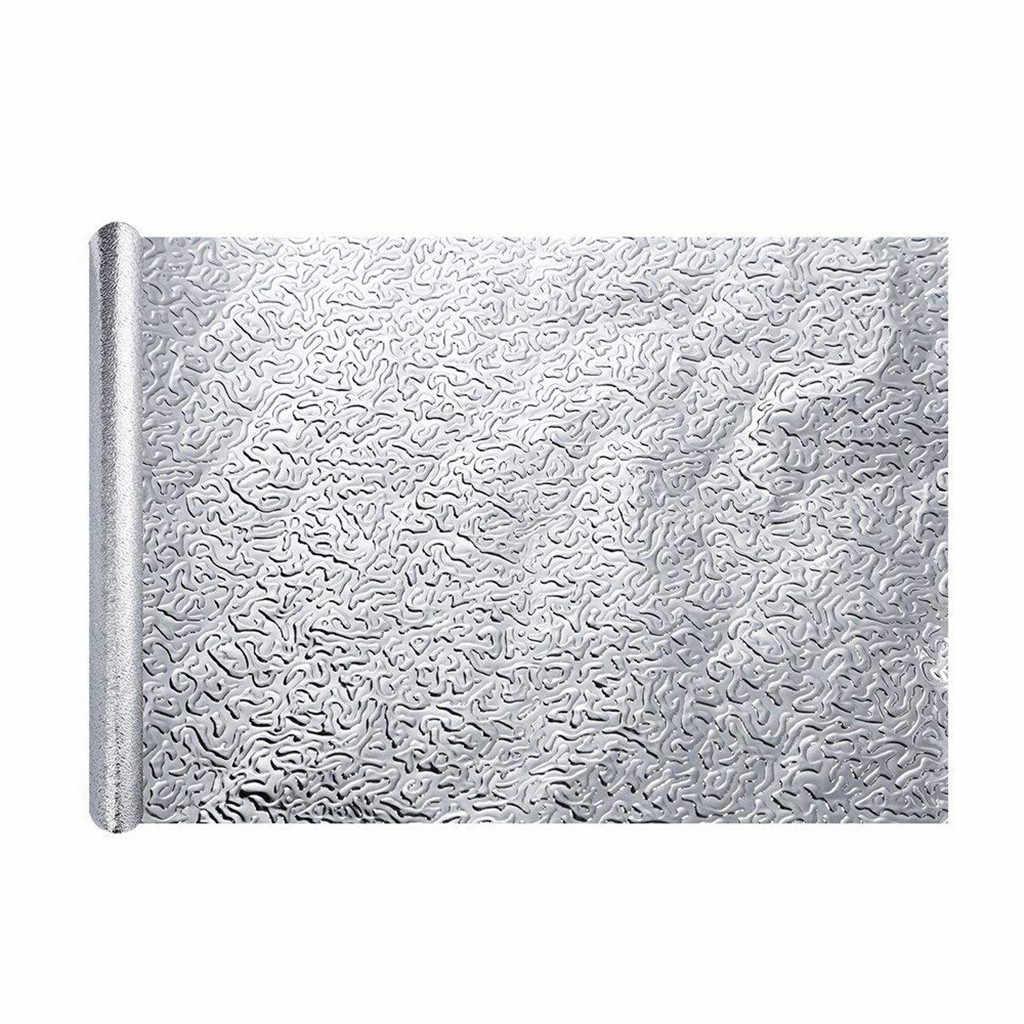 - 1 Roll Self Adhesive Premium Aluminum Foil Wall Paper Backsplash