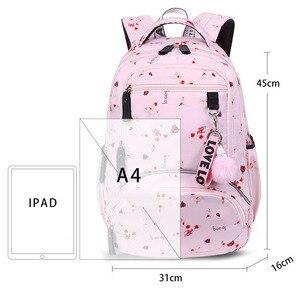 Image 2 - Fengdong Koreaanse Sytle Kinderen School Rugzak Kids Book Bag School Tassen Voor Meisjes Waterdichte Laptop Rugzak Vrouwelijke Rugzak