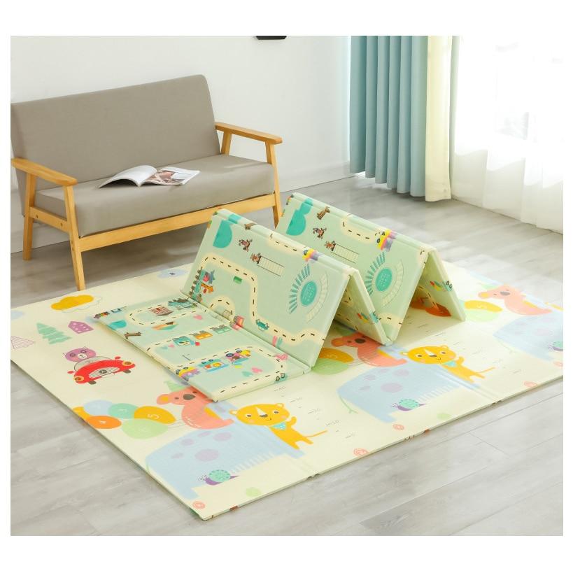 Miamumi Large Baby Floor Mat Game Playmat Kids Mat 180*200cm 70*78in 1CM Thickness Baby Gym Carpet Play Mat Baby Rug XPE Foam
