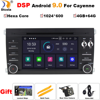 4G+64G PX6 DSP Hexa Core Android 9.0 Car DVD Player for Porsche Cayenne 2003-2010 With Bluetooth Head unit Radio RDS Wifi DAB+
