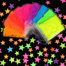 Флуоресцентные блестки звезды 3 мм/4 мм неоновые Блестки для