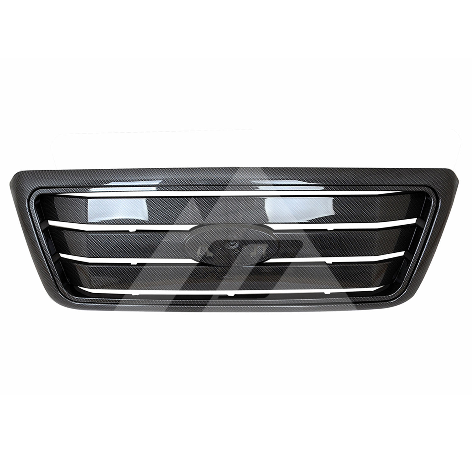 for 2004 2005 <font><b>2006</b></font> 2007 2008 <font><b>Ford</b></font> <font><b>F150</b></font> ABS Carbon Fiber Horizontal Packaged Grille image