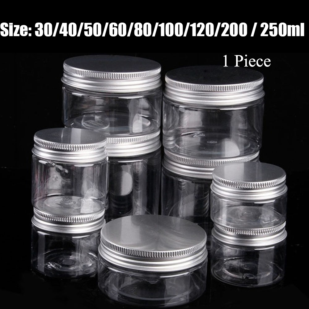 30/40/50/60/80/100/120/150/200/250ML Clear Plastic Jar Empty Bottle Cosmetic Containers Makeup Box Travel Bottle High Quality