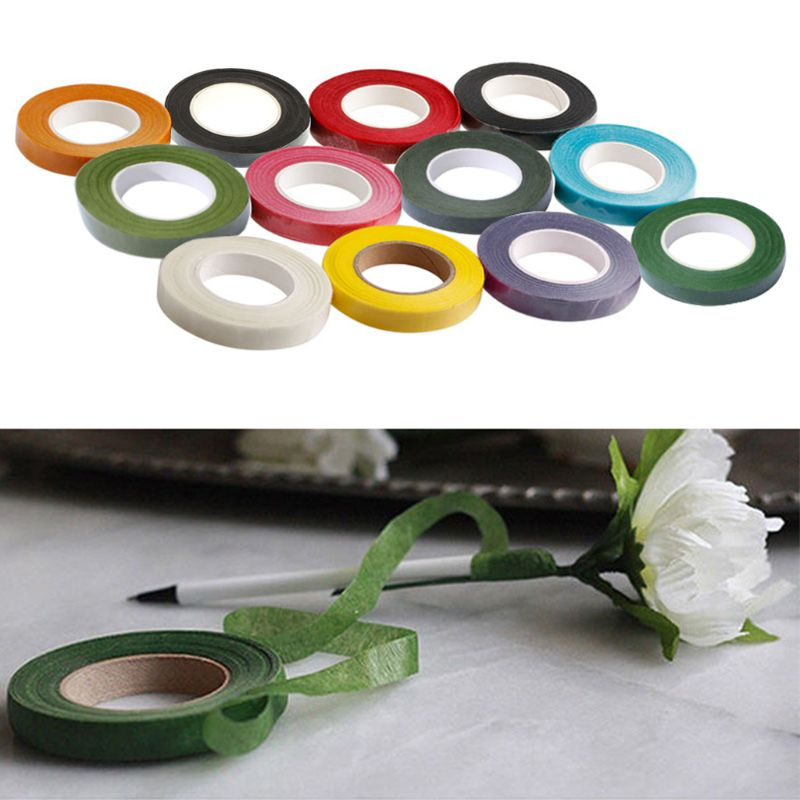 Floral Stem Wrap Florist Artificial Flower /& Metallic Tape Wire Corsage Craft