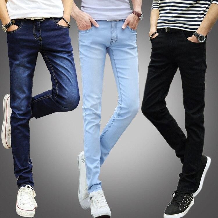 Summer Thin Section MEN'S Jeans Elasticity Korean-style Slimming Slim Fit Versatile Skinny Pants Men'S Wear