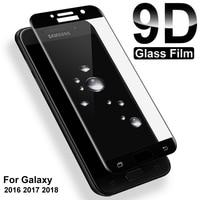 9D Schutz Glas Für Samsung Galaxy S7 A3 A5 A7 J3 J5 J7 2016 2017 Screen Protector A6 A8 J4 j6 Plus J2 J8 A9 2018 Glas Film