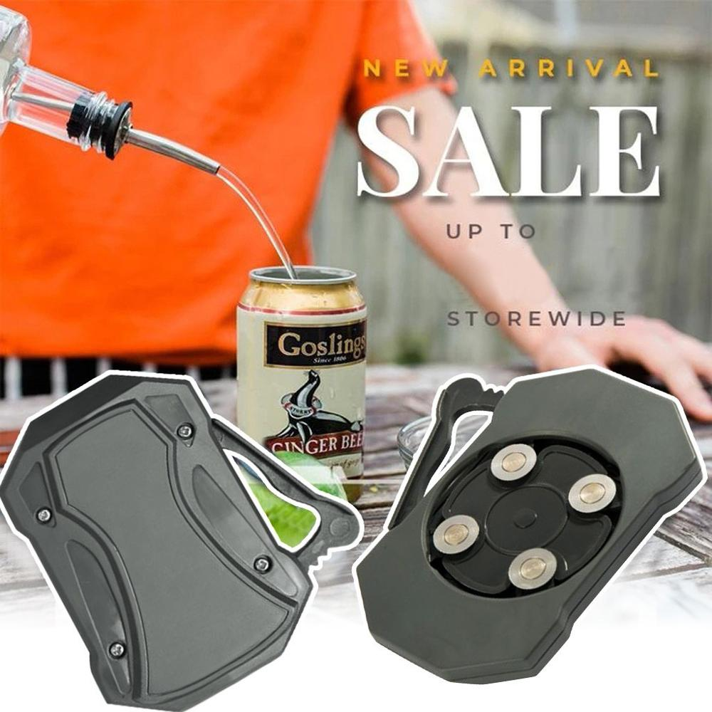 Professional Effortless Openers Household Kitchen Tool Safety Easy Manual Can Opener Go Swing Topless Can Opener Bar Tool Safety Effortless Openers with Locking Feature,No Sharp Edge