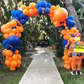 Сделай Сам воздушный шар на Хэллоуин Гирлянда арочный комплект пастельных латекс темно-синий оранжевый шары для свадьбы и дня рождения Baby ...