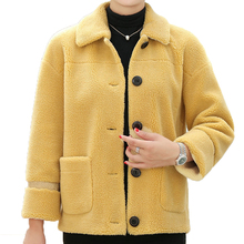 Teddy Cozy Women Winter Short Mink Fur Leather Jackets White Red Yellow Warm Wool Liner Outerwear Thick Soft Coats