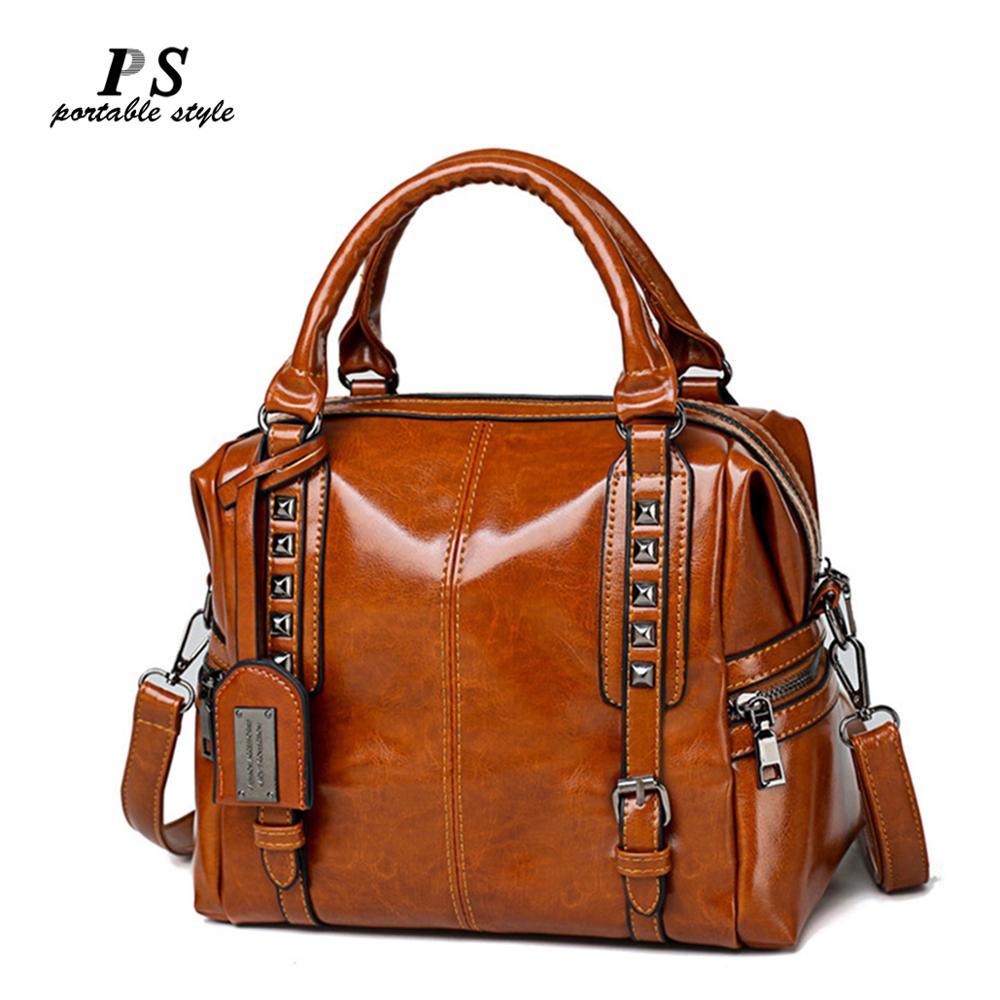 New Women Handbags Hammock High Quality Leather Bags Famous Design Large Tote Bag Designer Handbags Purse Shoulder Messenger Bag(China)