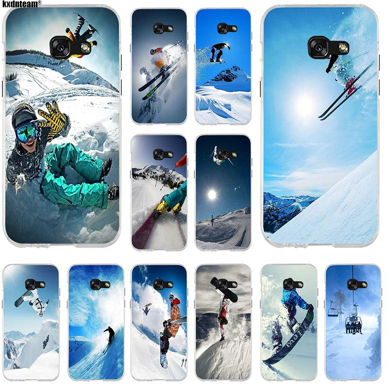 Soft Silicone Mobile Phone Cases For Samsung Galaxy J1 J2 J3 J5 J7 A3 A5 A7 2015 2016 2017 Shell Snow Or Die Ski Snowboard