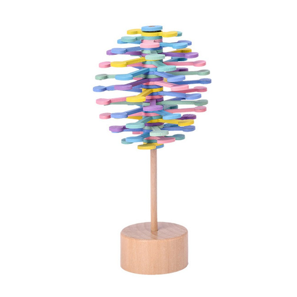 Spin Pollipop Tree Spinning Pollipop Tree Stress Relief Toy Kinetic Sculpture Colorful Kinetic Toy Rotary Relief Bar