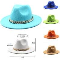 Sombreros Fedora de fieltro con hebilla de anillo de Jazz para hombre y mujer, sombrero Fedora de Panamá de Color Natural, accesorios