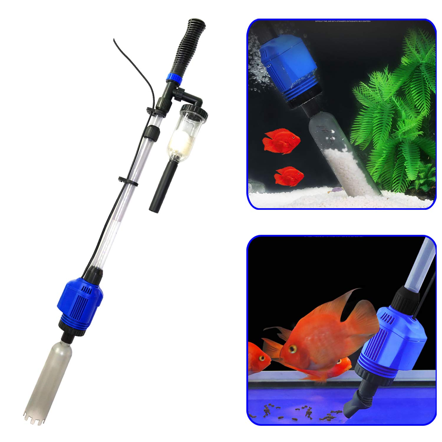 3 in 1 Electric Aquarium Vacuum Gravel Cleaner Automatic Water 