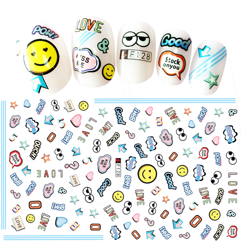 Japanese-style Cartoon Animal Bow Nail Sticker Gum Nail Sticker 3D Children Stickers