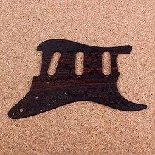 Real rosewood sss strat guitarra pickguard placa de risco