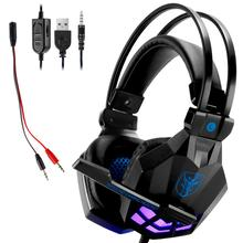 Led 3.5mm Earphone Gaming Headset With Microphone Mic Gamer PC PS4 Game Stereo Gaming Headphone With Microphone For Computer professional 3 5mm wired stereo camouflage gaming headset gamer earphone casque gaming gamer headphone with mic for computer pc