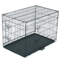 36inch-pet-playpen-animal-crate-diy-iron-wire-folding-wire-kennel-secure-dog-cat-house-for-small-large-cat-bed-dog-home-black