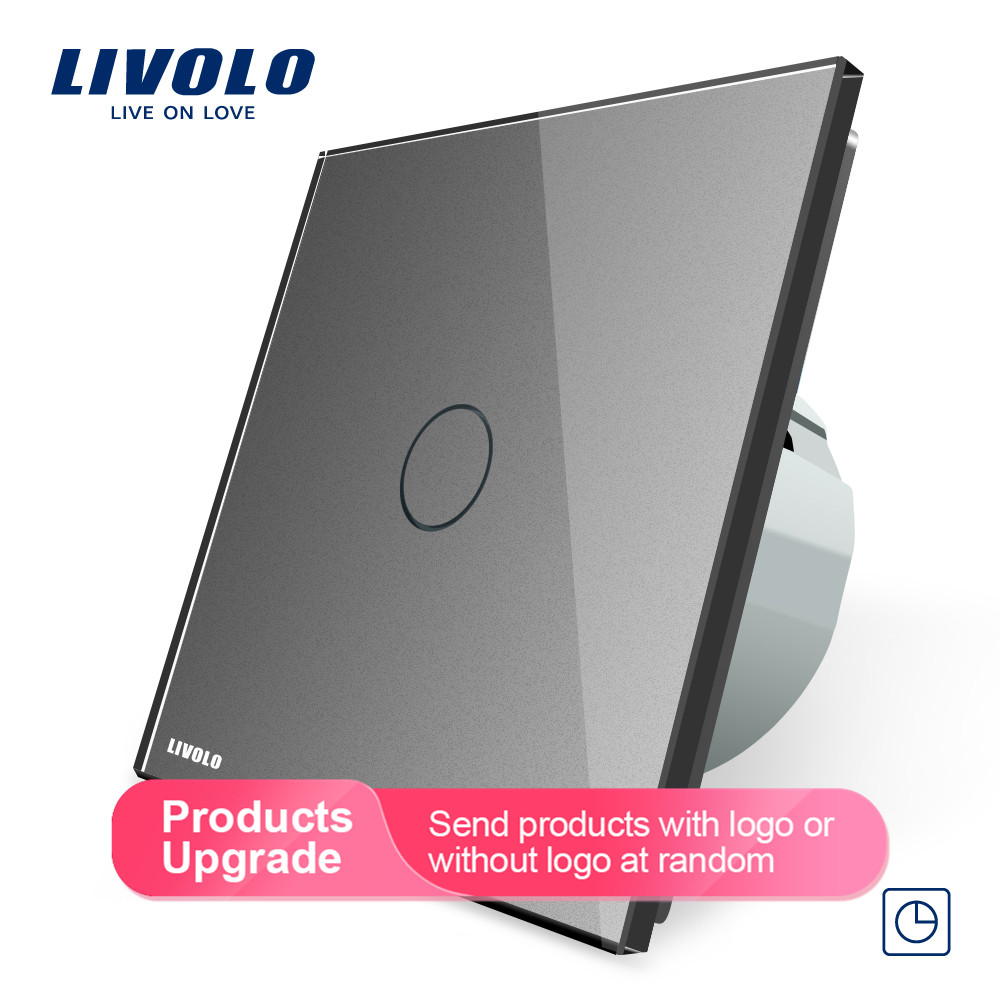 Livolo ЕС стандартный таймер(30 с задержкой), AC 220~ 250 В, 3 цвета стеклянная панель, светильник сенсорный выключатель+ светодиодный индикатор, C701T-1/2/3/5
