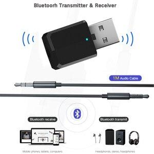 Image 2 - 5.0 2 في 1 جهاز إرسال بلوتوث استقبال USB AUX 3.5 مللي متر ستيريو الموسيقى الصوت KN320 بلوتوث اللاسلكية محول للتلفزيون سماعة سيارة