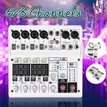 8-канальный сетевой видеорегистратор Мини Портативный микшер с USB DJ микшерная консоль MP3 караоке 48V усилитель для караоке матч Вечерние