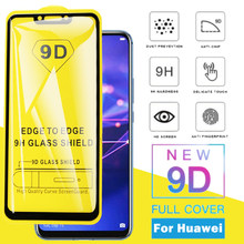 9D Full Cover Tempered Glass For Huawei Mate 20 Lite Screen Protector for huawei P20 Lite P20pro Nova 3i P Smart Protective Film(China)