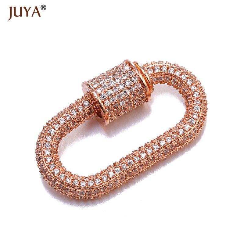 Аксессуары для ювелирных изделий ручной работы, трендовые циркониевые кристаллы, спиральные застежки для изготовления ювелирных изделий, подвески, новейший дизайн - Цвет: Rose Gold
