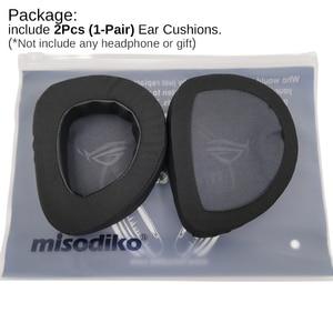 Image 2 - Misodiko substituição almofadas de ouvido almofada kit para asus rog delta gaming headset, fones de ouvido peças de reparo earpads (preto)