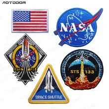 Американская авиация космическое управление НАСА значок космическое открытие пять частей MA1 хлопковая стеганая одежда вышитые нашивки Одежда Этикетка