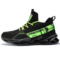 G133 Black Green-Couples Sneakers Casual Breathable Comfortable Sport Running Shoes