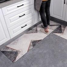 Tapetes de cozinha modernos à prova de água e óleo esteira do pvc cozinhar tapetes de assoalho anti-deslizamento corredor entrada capacho quarto pés almofada