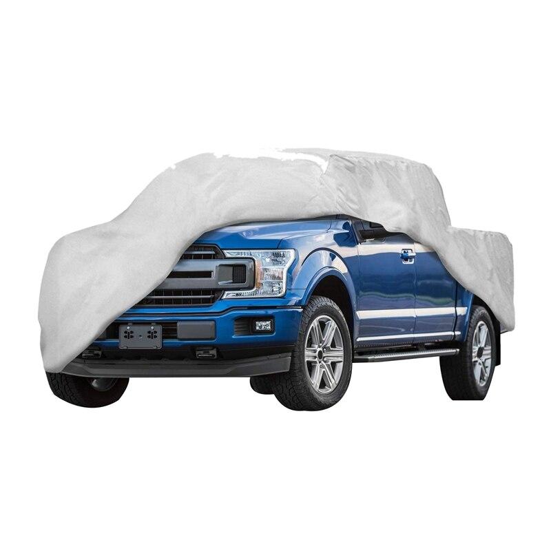Couvre-poussière de camion en cuir Non tissé épaissi vent, pluie, UV couverture de Protection de camion pour Ford F150 Ram 1500 Chevy Silverado GMC Si - 6