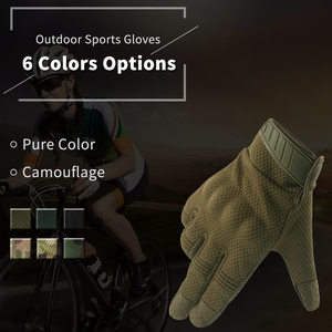 Image 4 - Summer Touch Screen Camo Motorcycle Gloves Men Full Finger Motorbike Riding Gloves Women Motos Motocross Tactical Military